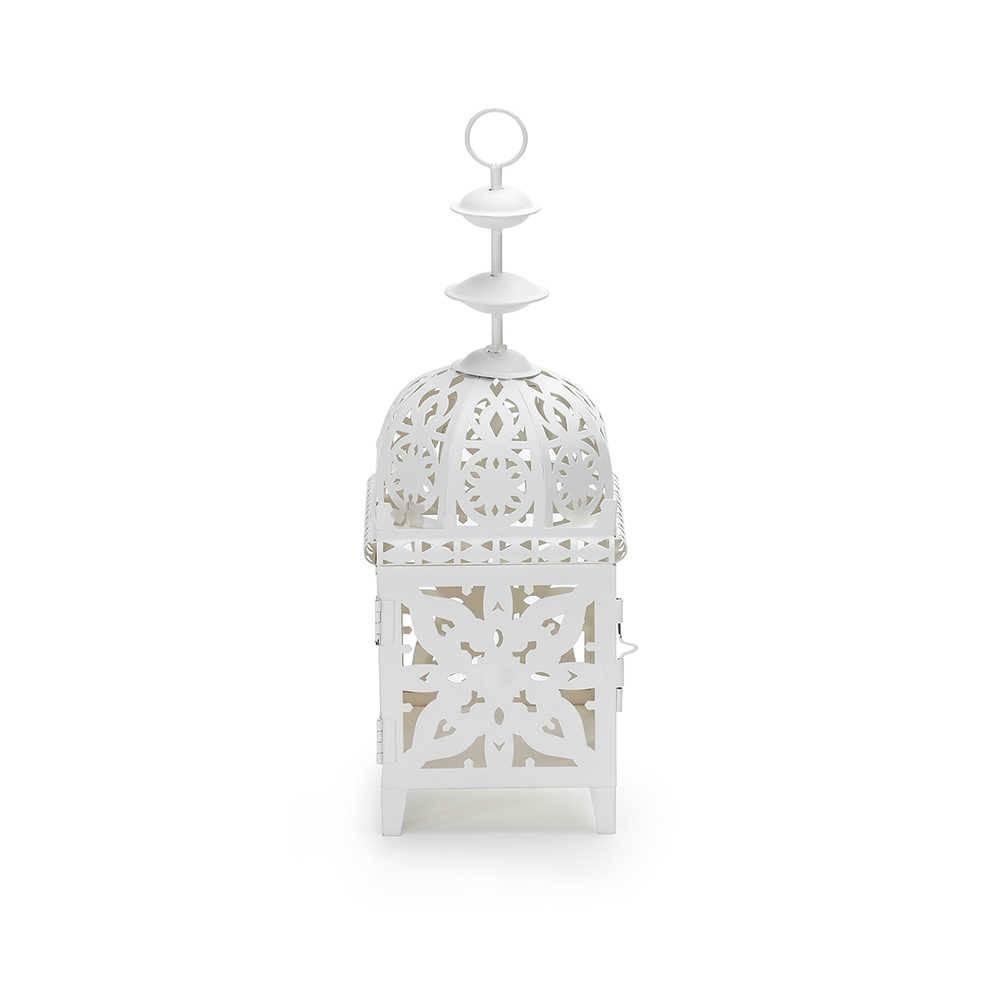 Lanterna Marroquina Média Branca em Metal - Urban - 40x15 cm