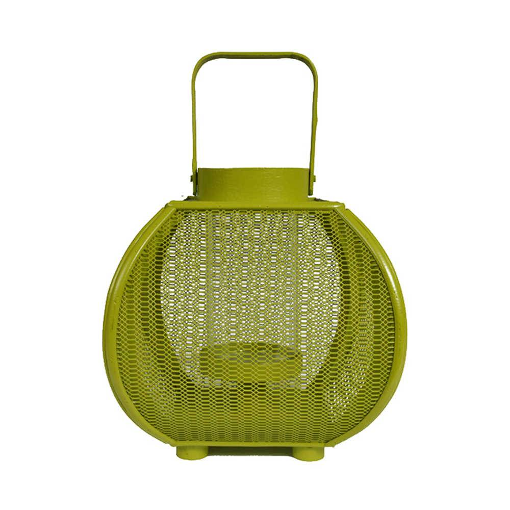 Lanterna Marroquina Média Fisherman Verde em Metal - Urban -  21,5x20,5 cm