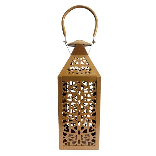 Lanterna Marroquina Mohammed em Metal - 33x15 cm