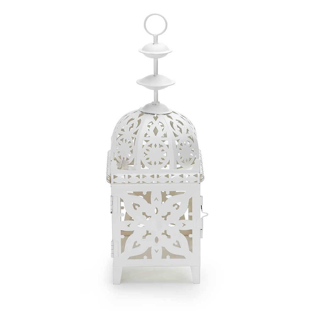 Lanterna Marroquina Quadrada Branca em Metal - Urban - 30x11 cm