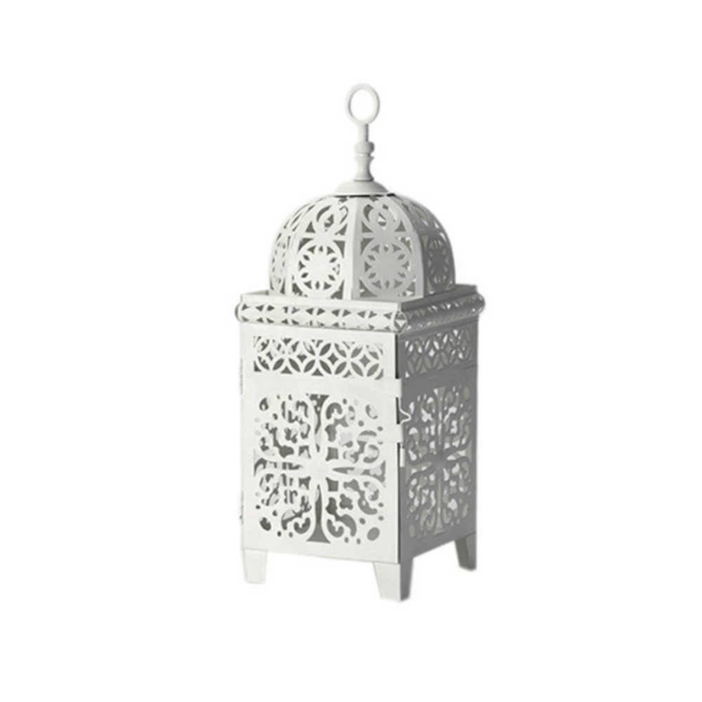 Lanterna Marroquina Quadrada Grande Flor New em Metal - Urban - 38x13 cm