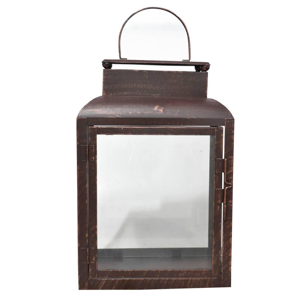 Lanterna Marroquina Straight Sides Le Jazz em Metal - Urban - 36,5x24 cm