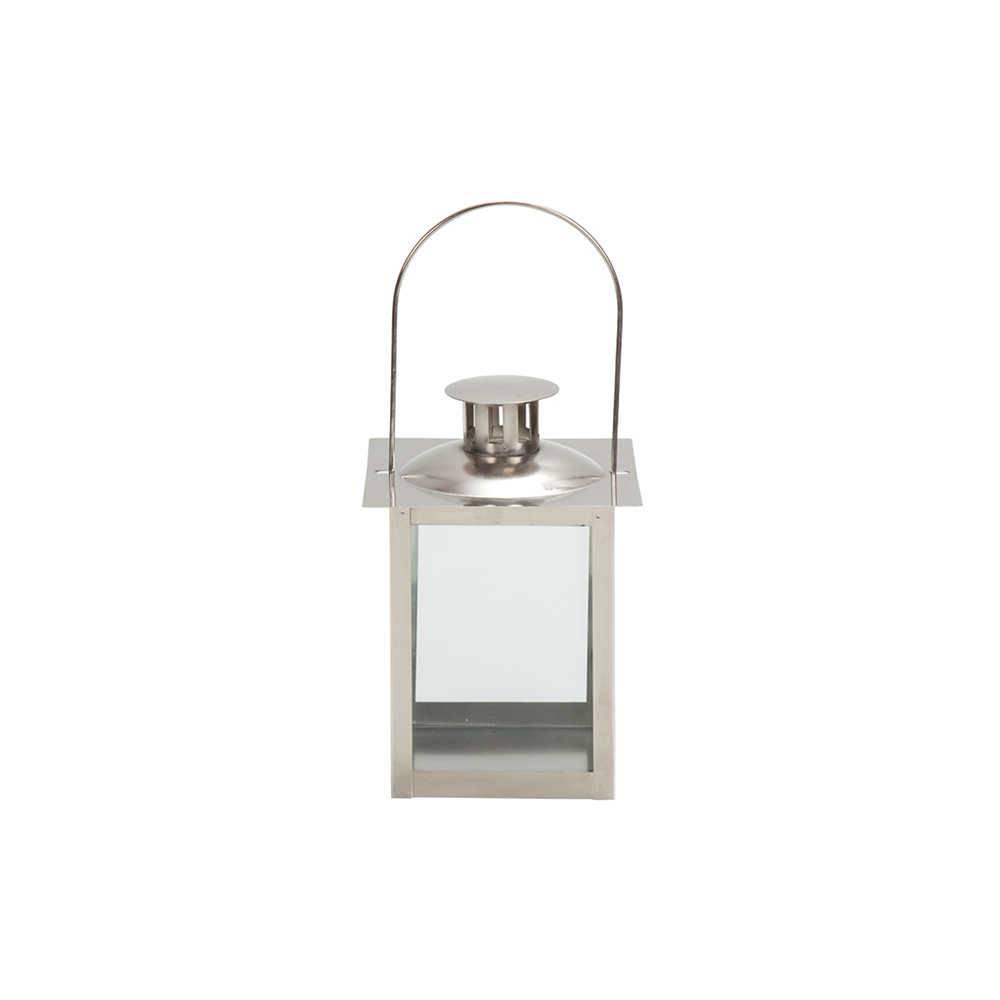 Lanterna Média Marroquina Cubix Chrome com Tampa em Metal - Urban - 20x14,5 cm
