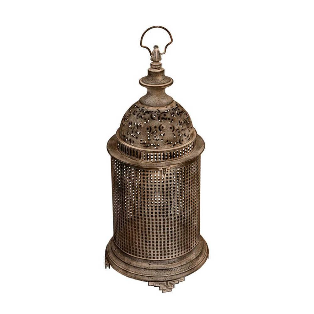 Lanterna Pavani Vazada Grande em Metal com Acabamento Envelhecido - 61x30 cm