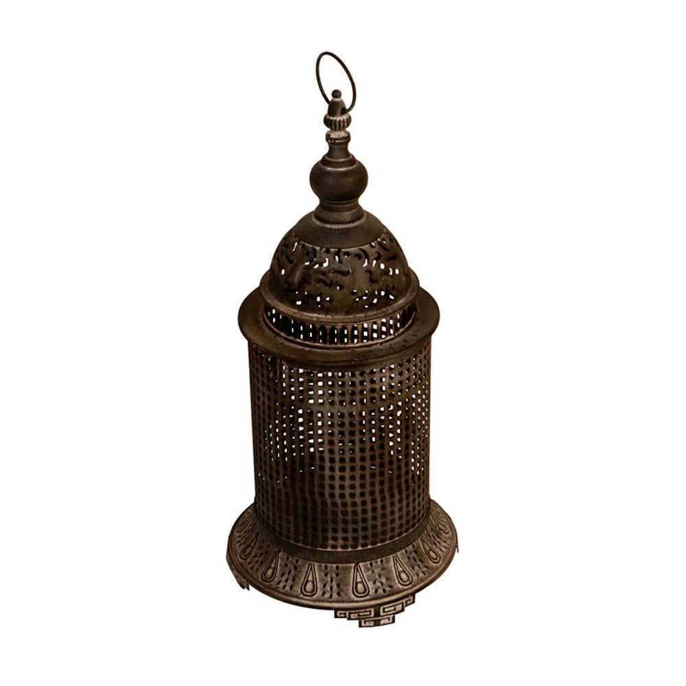 Lanterna Pavani Vazada Média em Metal com Acabamento Envelhecido - 51x21 cm