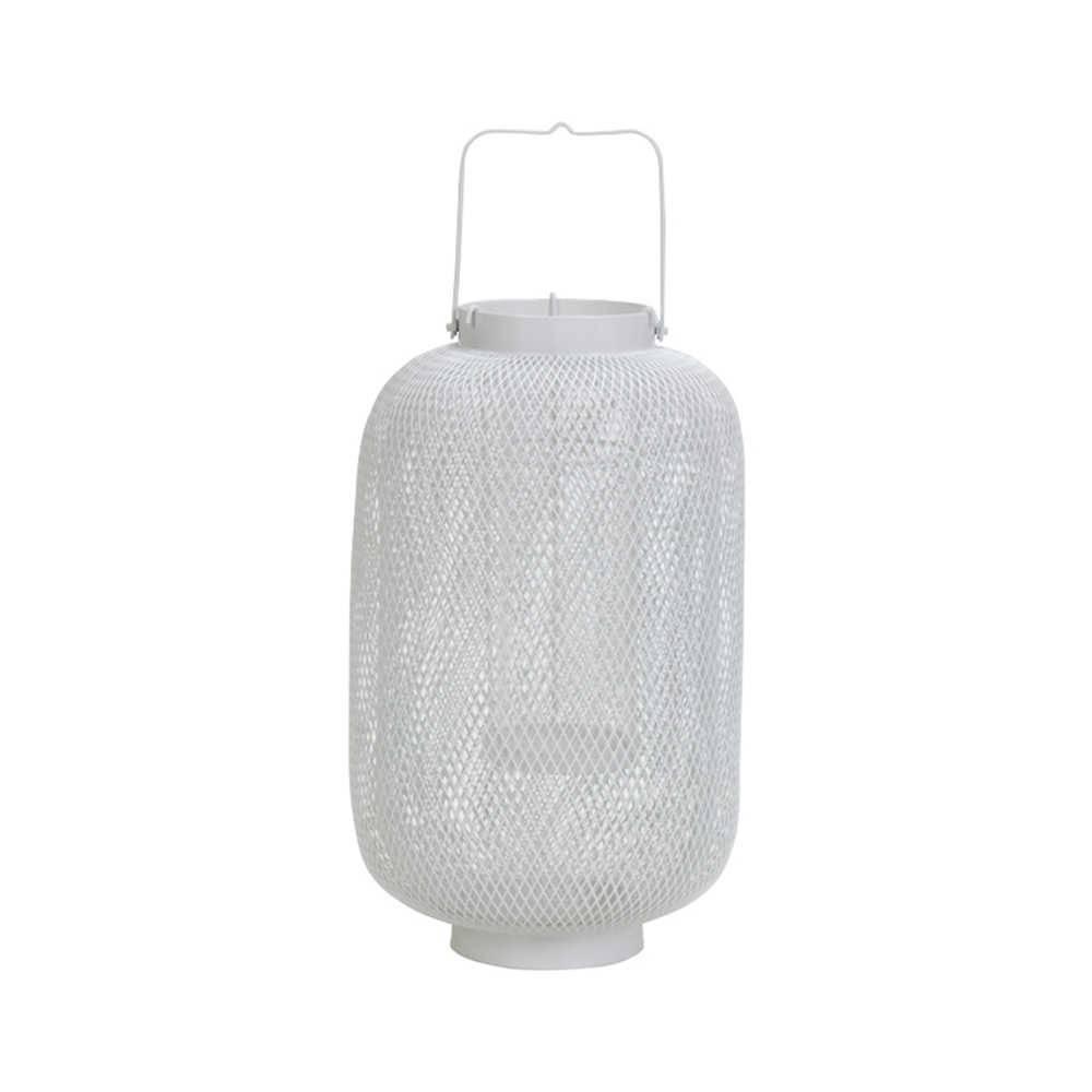 Lanterna Pequena Branca Double Layer Fisherman em Metal - Urban - 21x21 cm