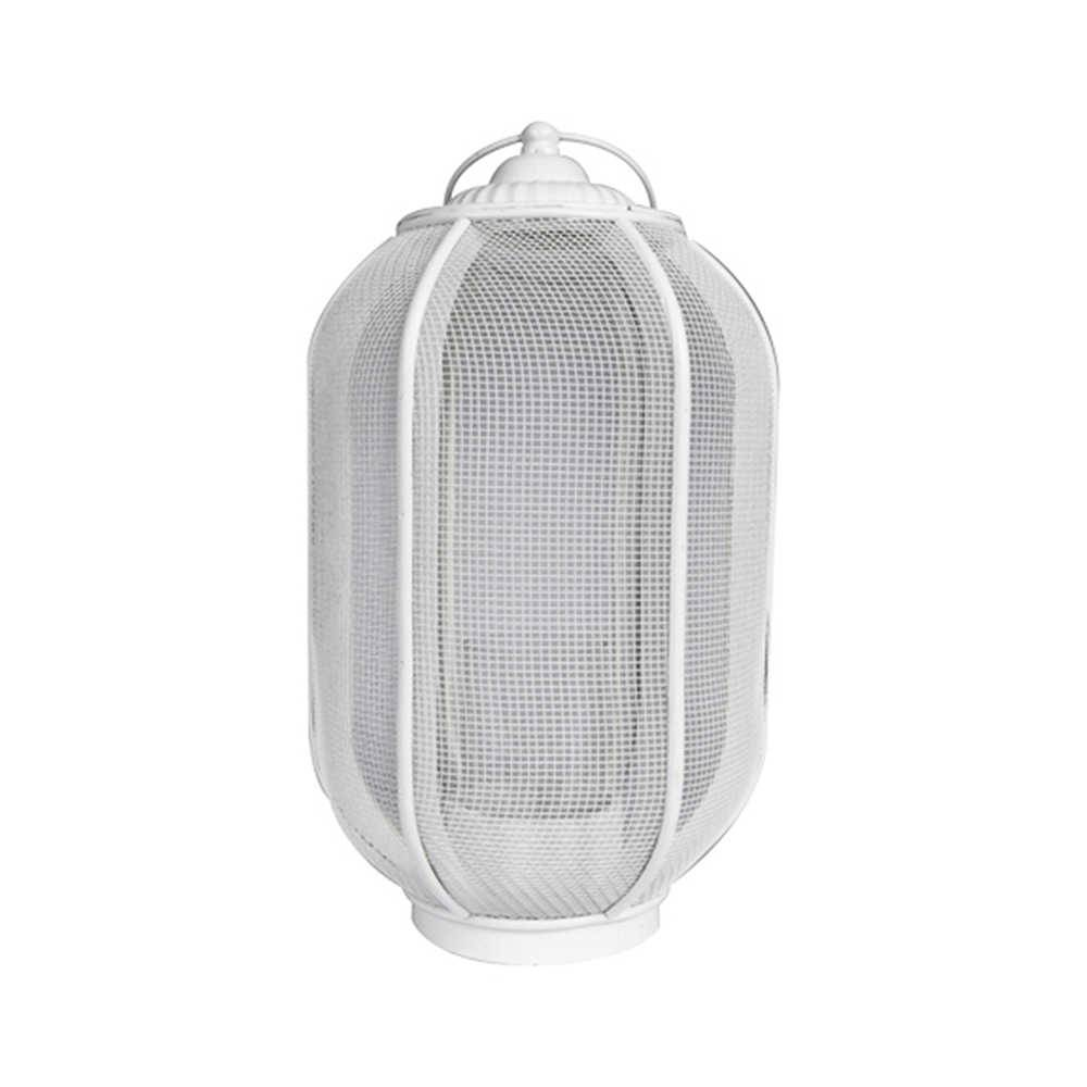 Lanterna Pequena Marroquina Ballon Classic Branco em Metal - Urban - 30x16 cm