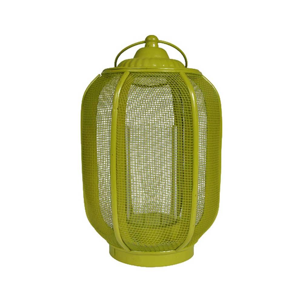 Lanterna Pequena Marroquina Ballon Classic Verde em Metal - Urban - 30x16 cm