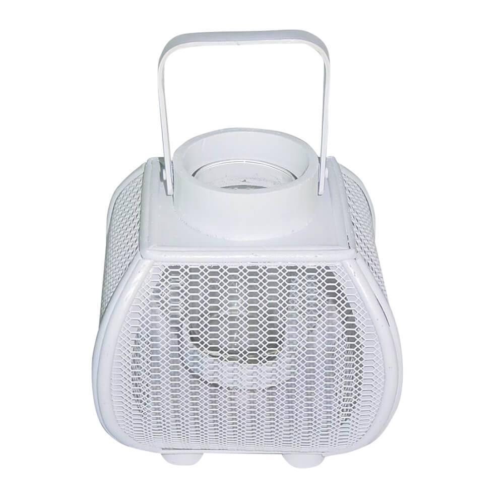 Lanterna Pequena Marroquina Fisherman Branco em Metal - Urban - 17,5x16 cm