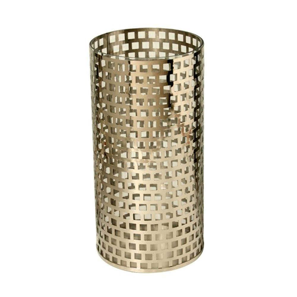 Lanterna Steel Vazada em Aço Inox - 41x21 cm