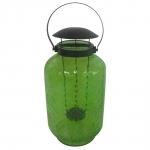 Lanterna Verde Claro Alto em Vidro