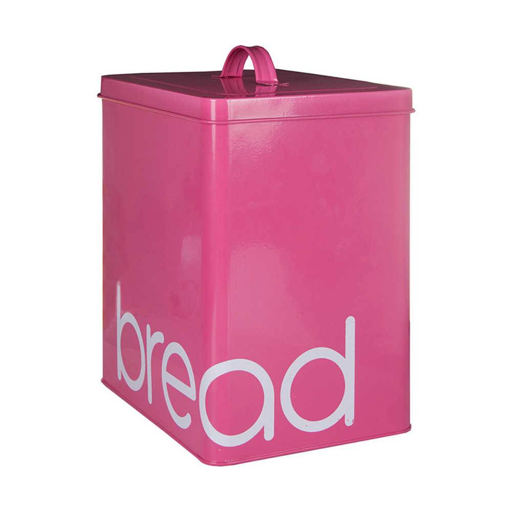 Lata Bread Pink em Metal - Urban - 31x20,6 cm