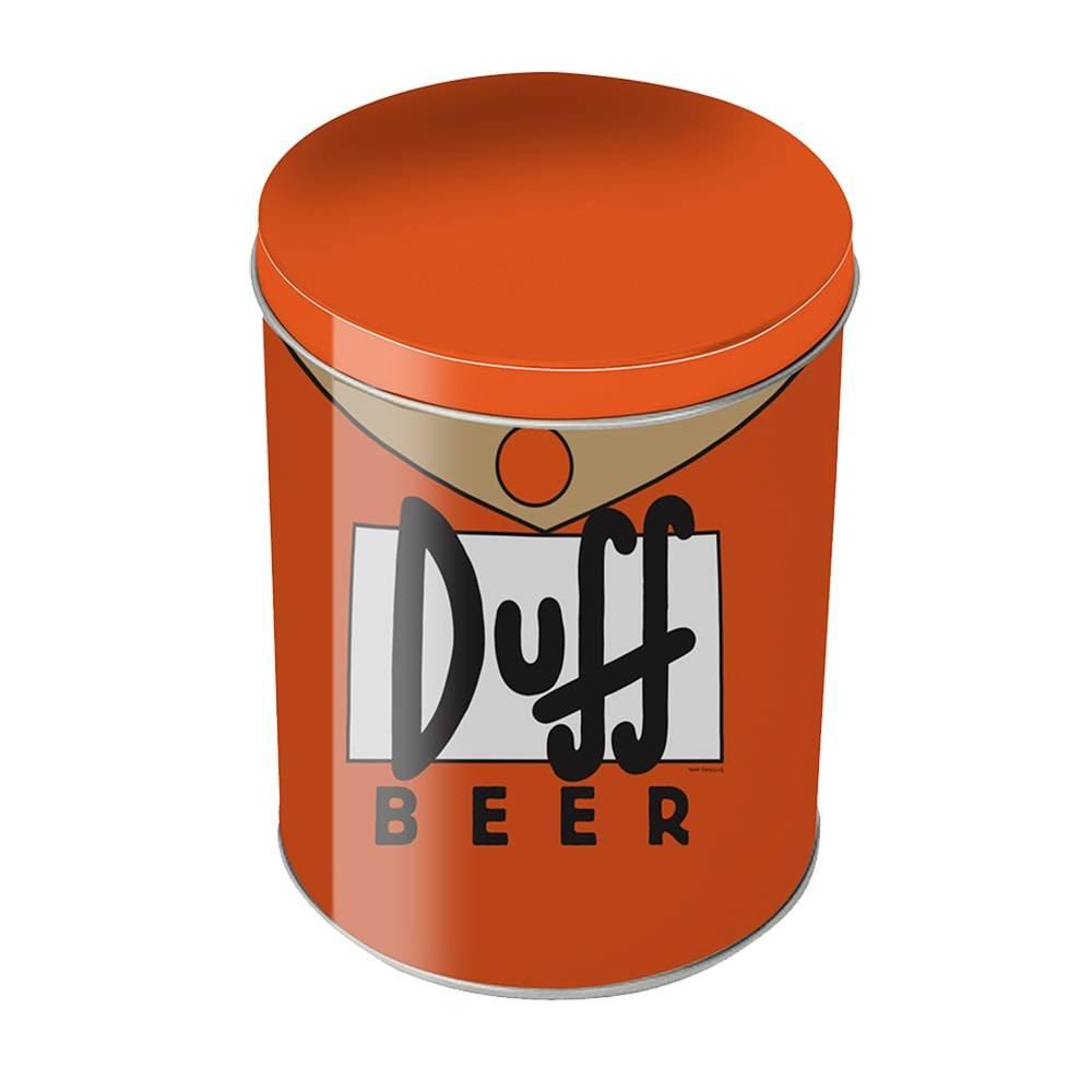 Lata Multiuso Duff Beer Laranja - The Simpsons - em Metal - 18x11 cm