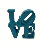 Letra Love Azul Turquesa