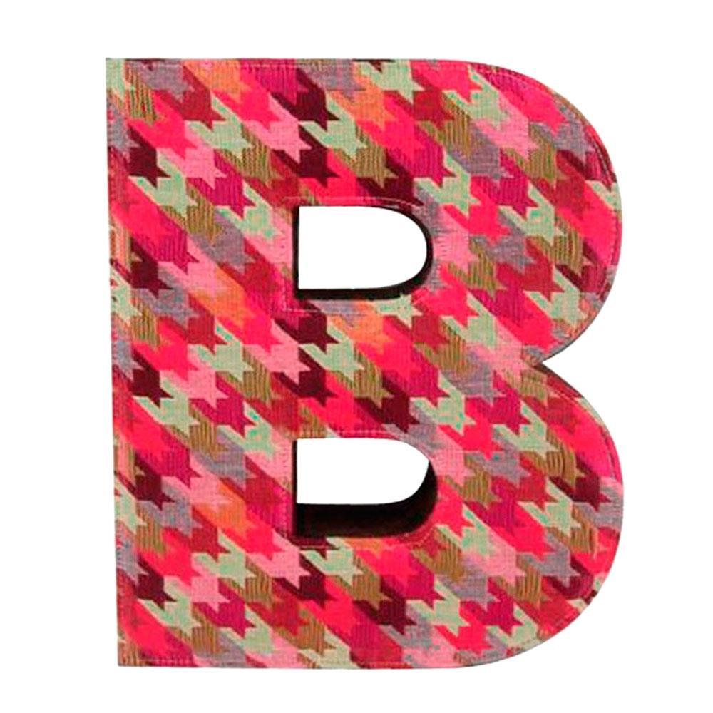 Letra B Decorativa de Parede Colorida em Tecido - 26x22 cm