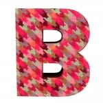 Letra B Decorativa de Parede Colorida em Tecido