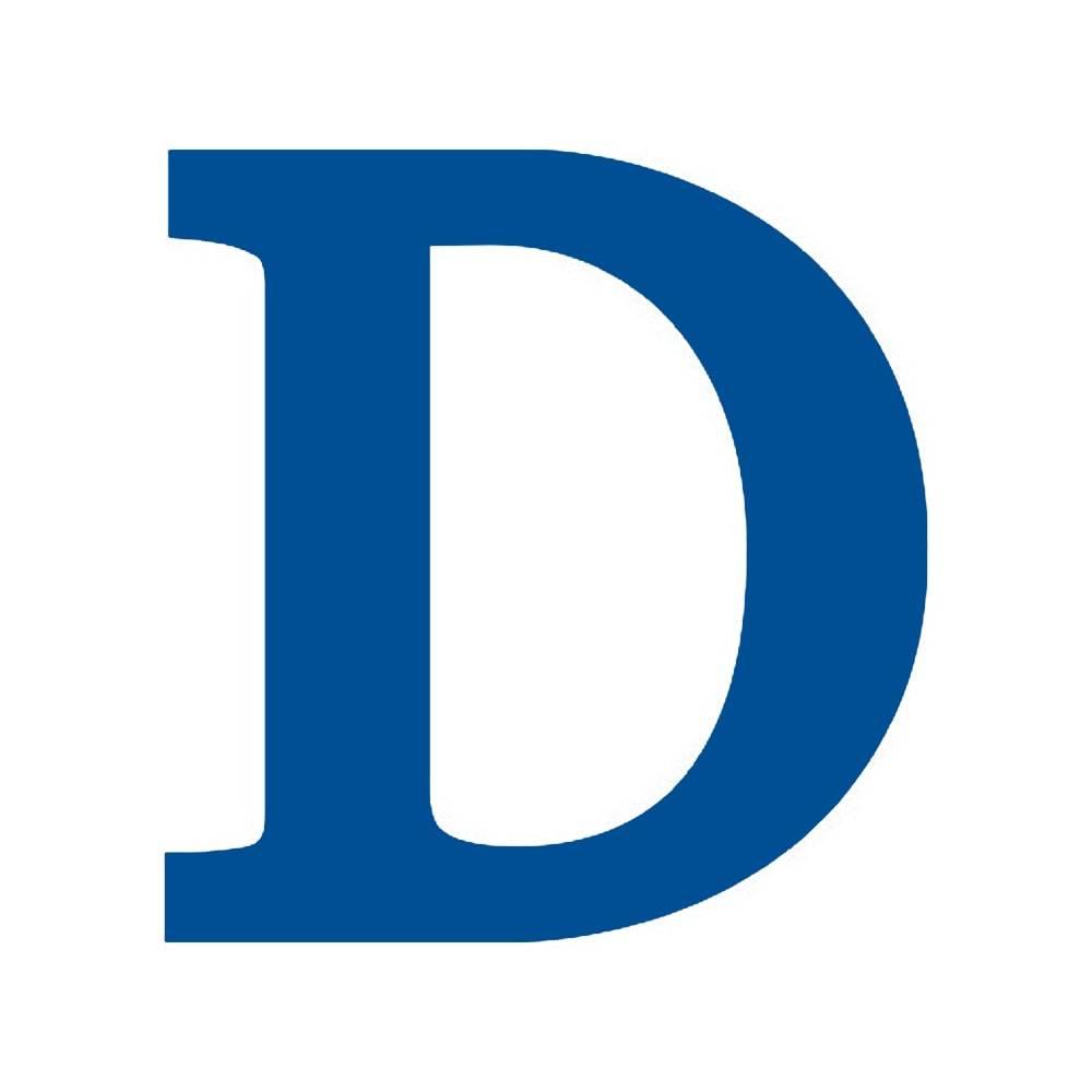 Letra D Decorativa Azul Royal em MDF - 19x18 cm