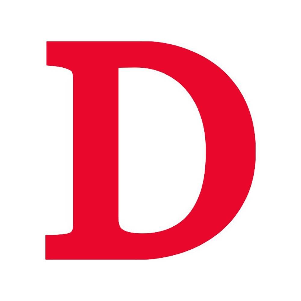 Letra D Decorativa Vermelha em MDF - 19x18 cm