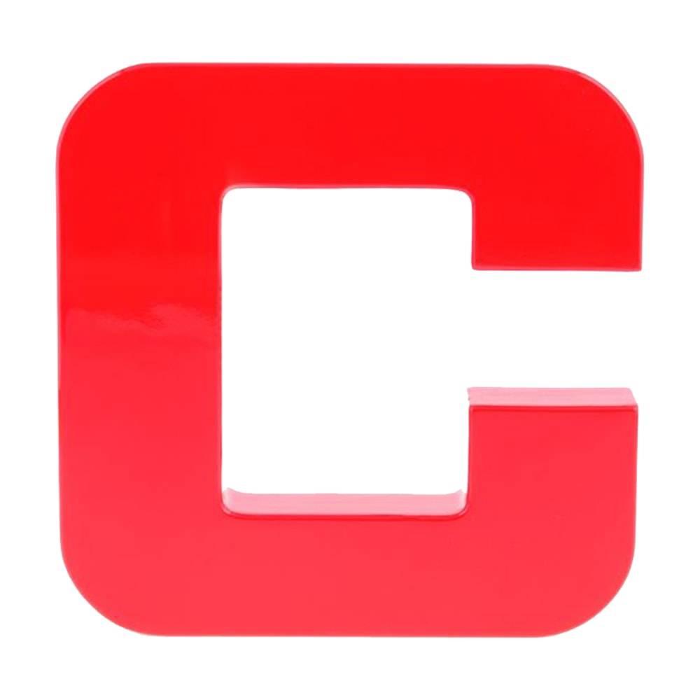Letra Decorativa C Vermelha em Laca - 20x20 cm