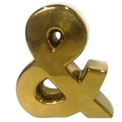 Letra Decorativa E Comercial Dourada em Cerâmica - Urban