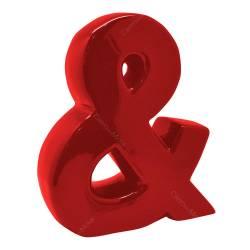 Letra Decorativa E Comercial Vermelha em Cerâmica - Urban R$ 149,95 R$ 109,95 2x de R$ 54,98 sem juros