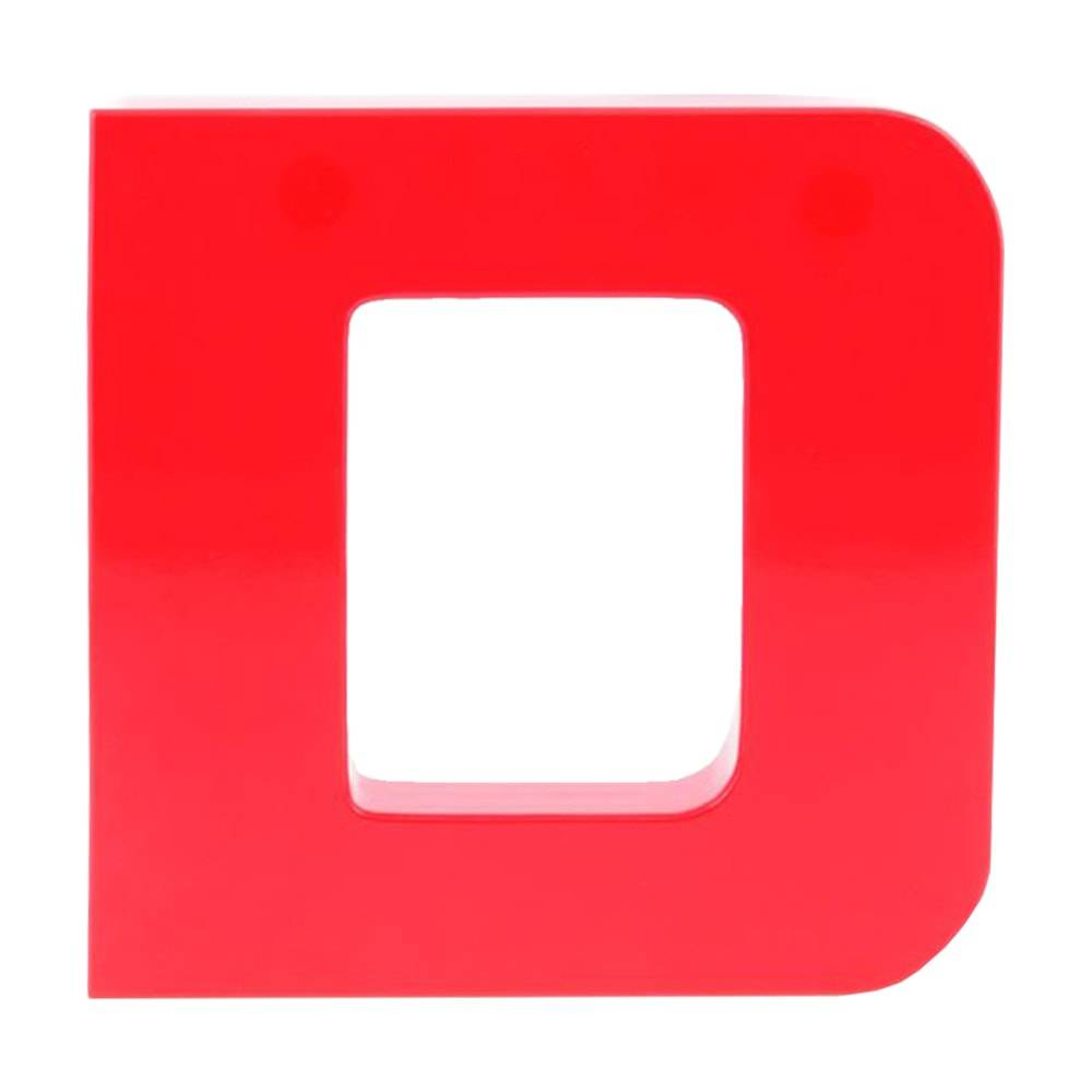 Letra Decorativa D Vermelha em Laca - 20x20 cm