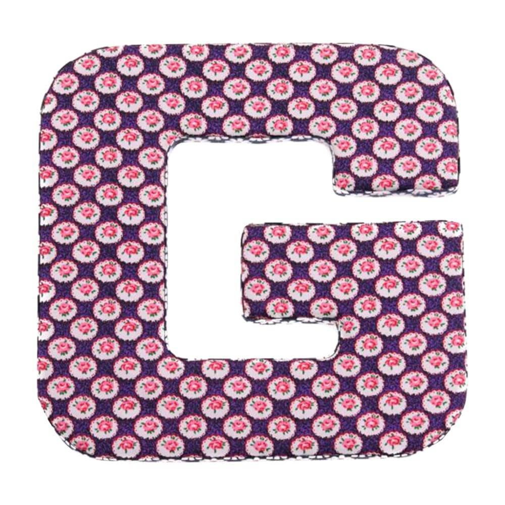 Letra Decorativa G Patchwork em Madeira - 20x20 cm
