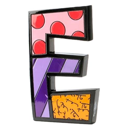 Letra Decorativa Letter E - Romero Britto - em Resina - 15x9 cm