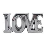 Letra Decorativa Love Cromado em Cerâmica