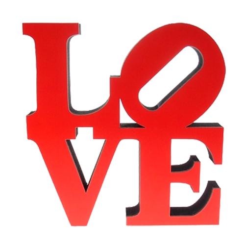 Letra Decorativa Love NY em Madeira - 20x20 cm
