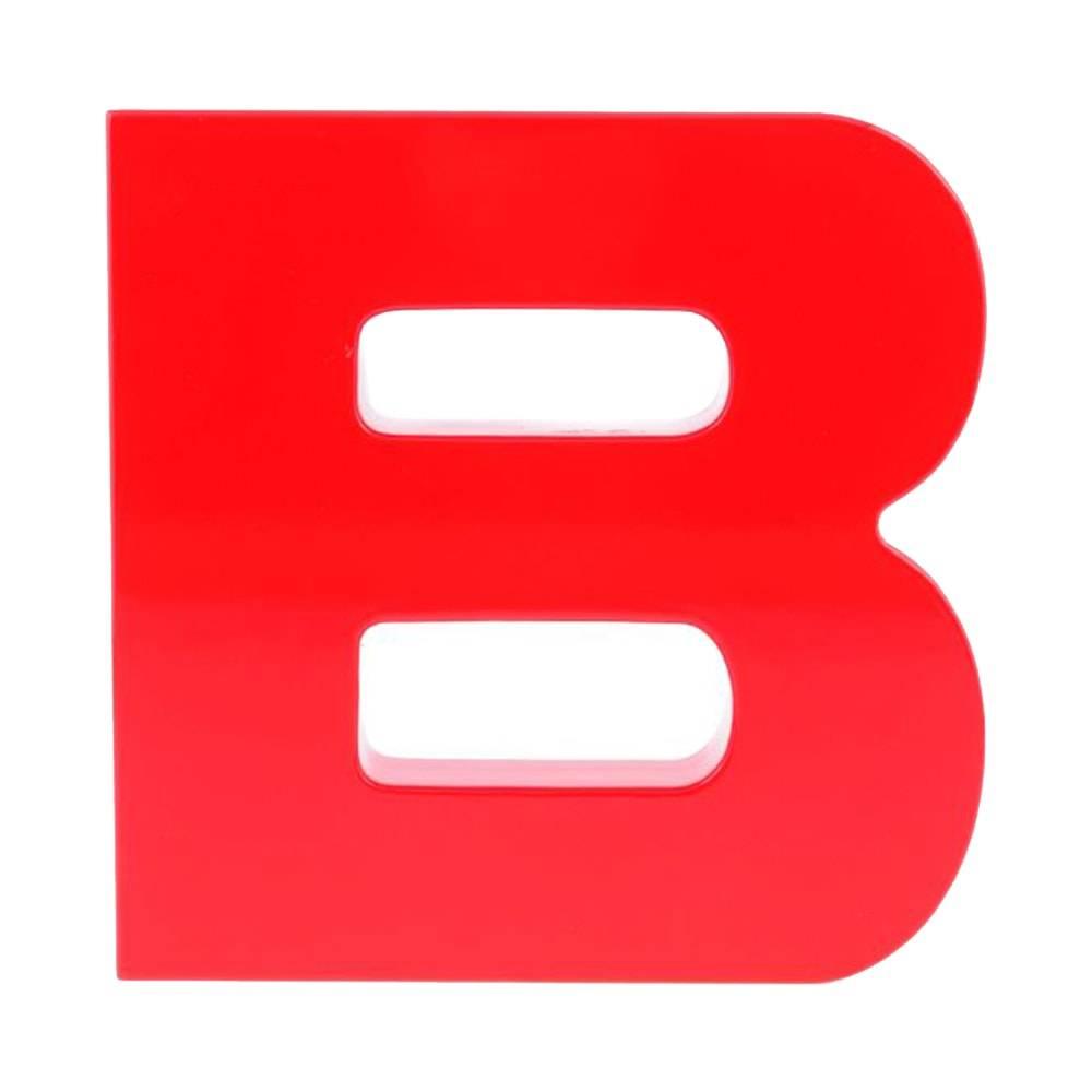 Letra Deocrativa B Vermelha em Laca - 20x20 cm