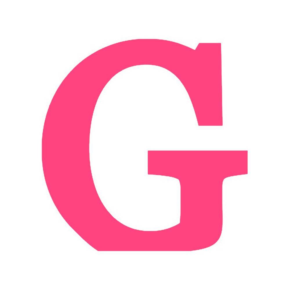 Letra G Decorativa Rosa Pink em MDF - 19x18,4 cm