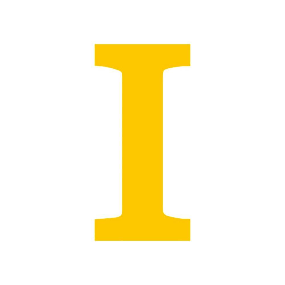 Letra I Decorativa Amarela em MDF - 19x9,2 cm