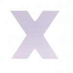 Letra Laca Branca X