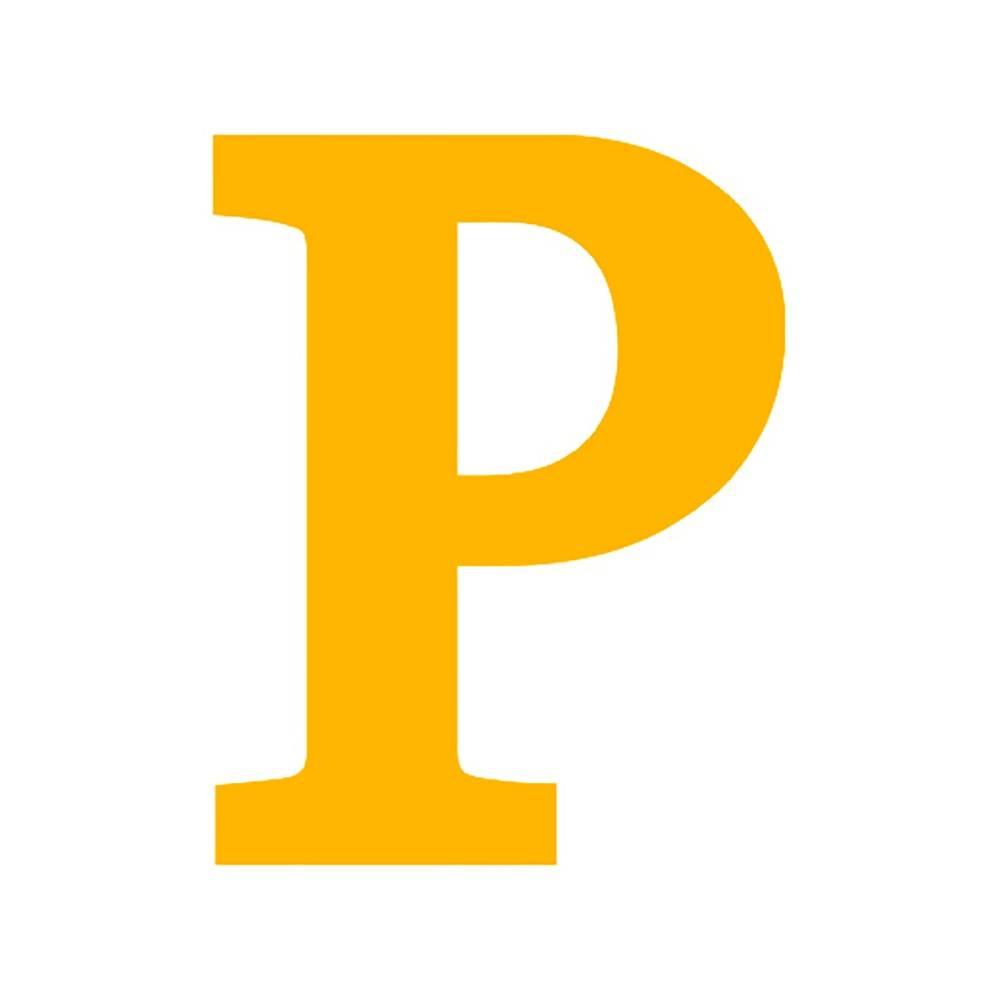 Letra P Decorativa Amarela em MDF - 19x15 cm