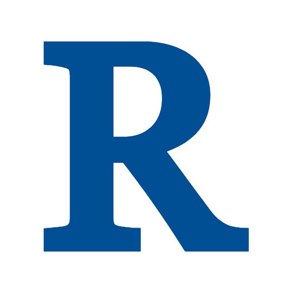 Letra R Decorativa Azul Royal em MDF - 19x18,5 cm