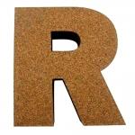 Letra R Decorativa de Parede em Tecido - 26x23,2 cm