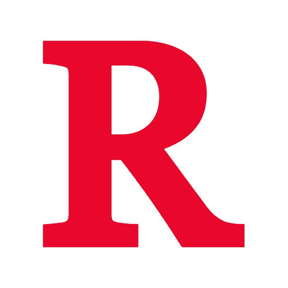 Letra R Decorativa Vermelha em MDF - 19x18,5 cm