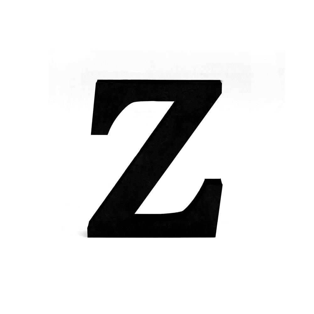 Letra Z Decorativa Preta em MDF - 19x16 cm