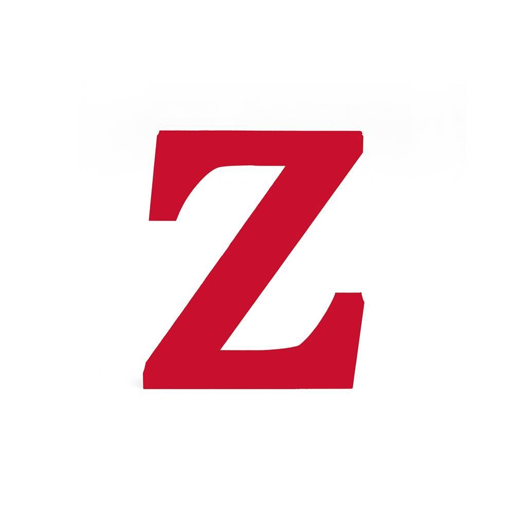 Letra Z Decorativa Vermelha em MDF - 19x16 cm