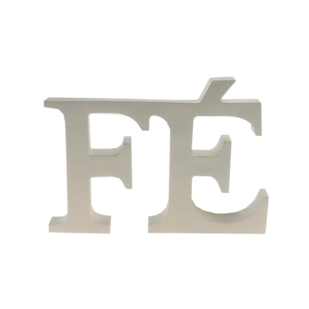 Letreiro FÉ branco