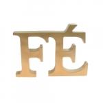 Letreiro FÉ dourado