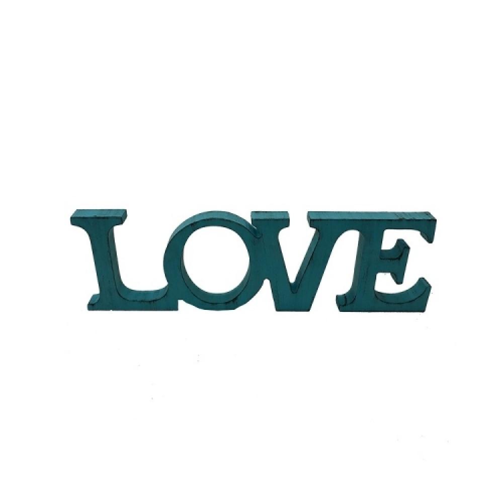 Letreiro LOVE cor tiffany