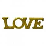 Letreiro LOVE grande amarelo
