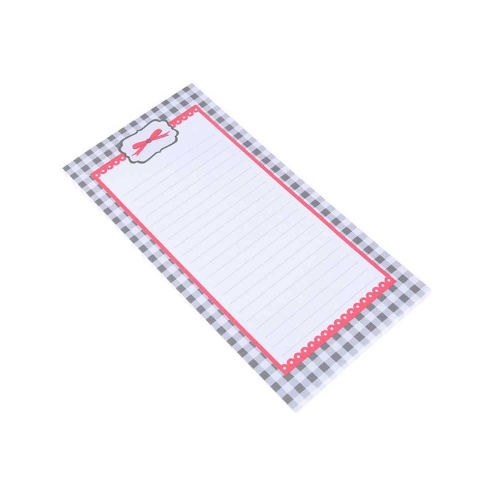 Lista de Compras Magnética Xadrez e Laço em Papel - Urban - 20,5x10 cm