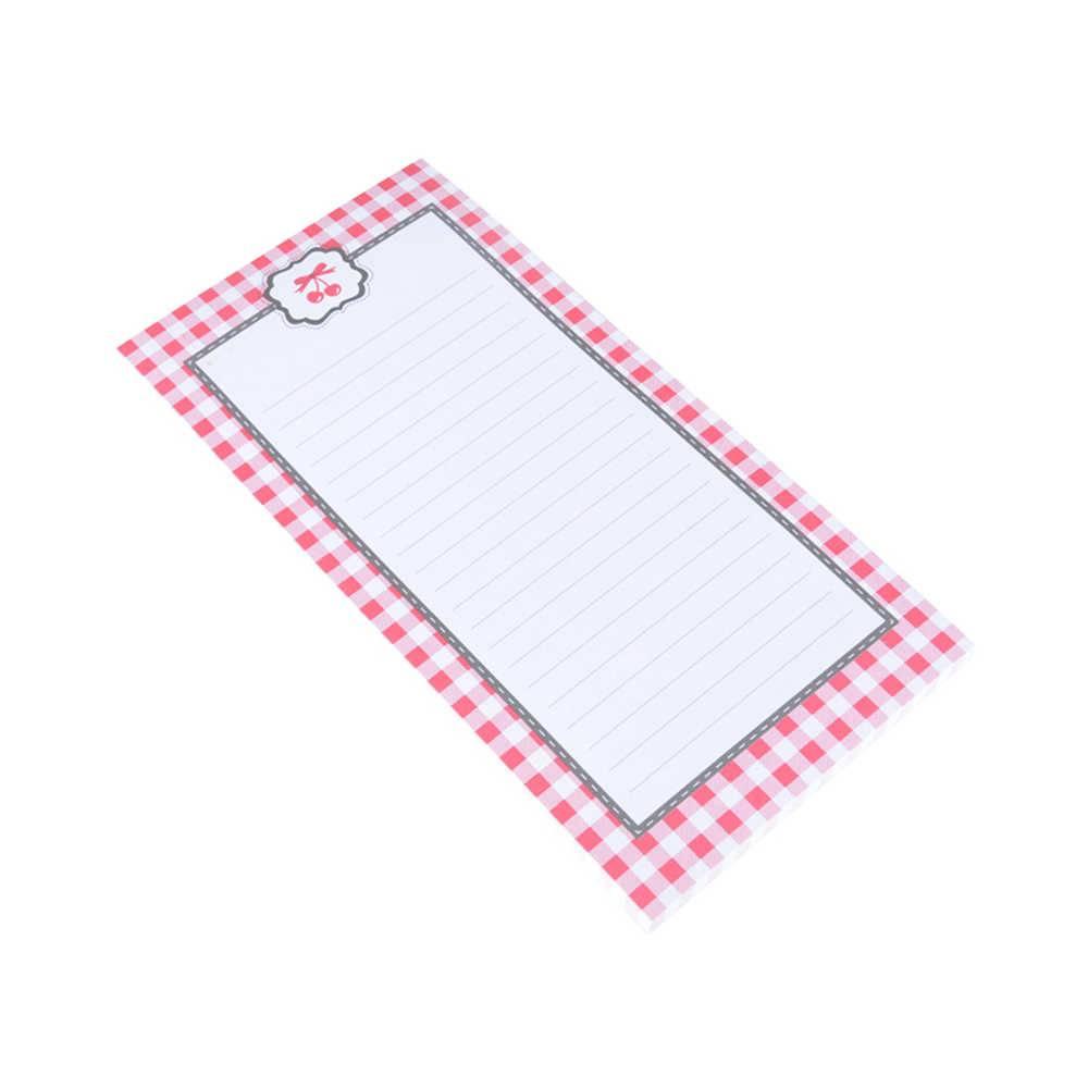 Lista de Compras Magnética Xadrez Pink e Cherries em Papel - Urban - 20,5x10 cm