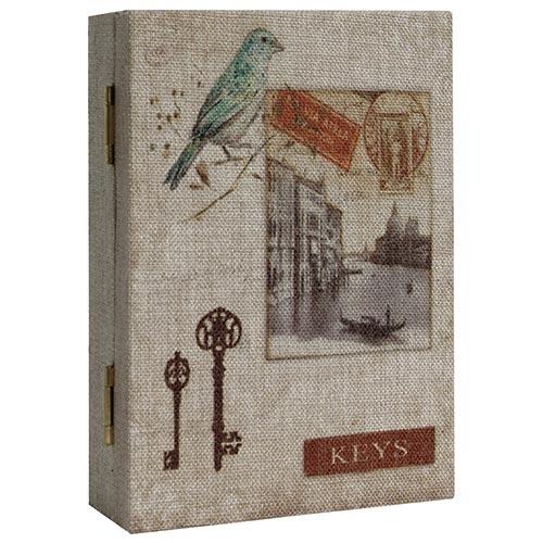 Livro Porta Chaves Book Bird Veneza Oldway - Madeira - 26x19 cm