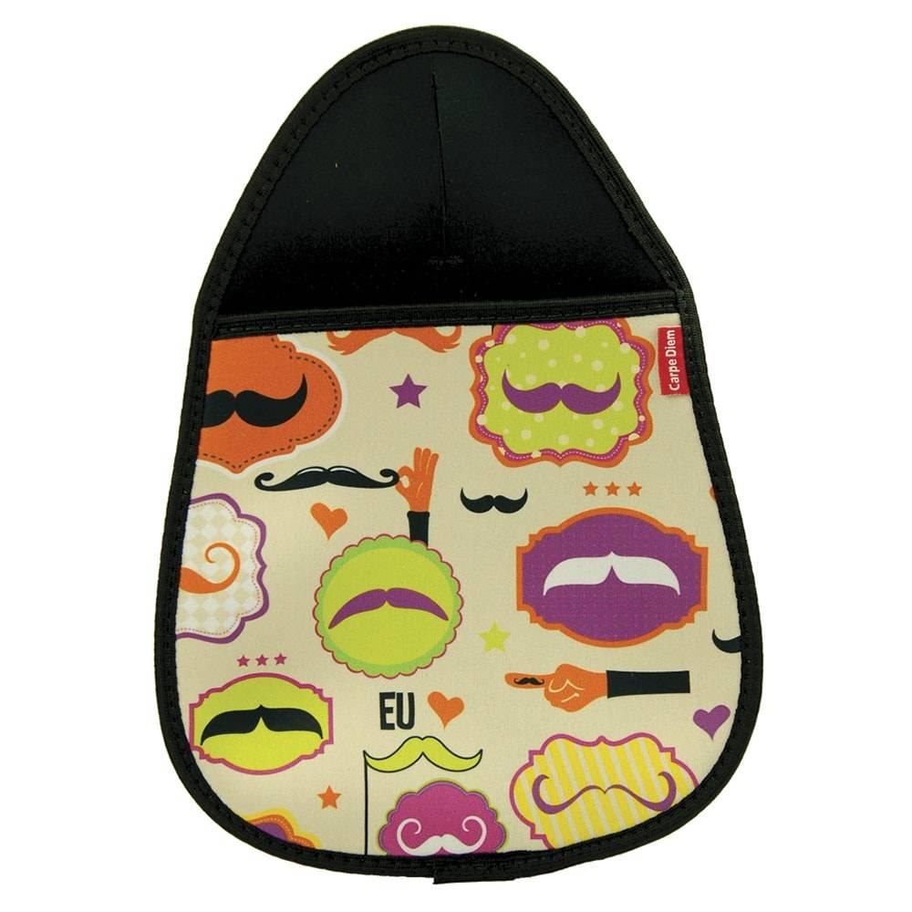 Lixeira para Carro Mustache - Carpe Diem - em Neoplex - 29x21 cm