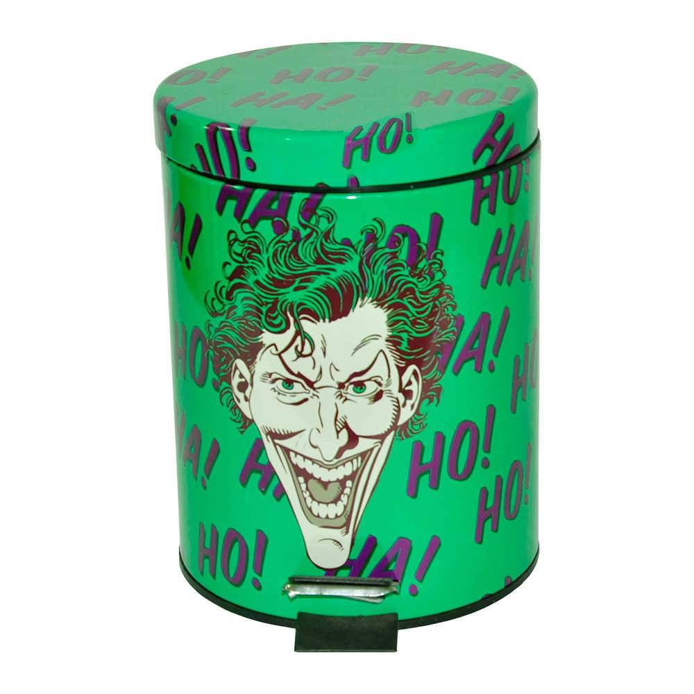 Lixeira DC Comics Joker HAHAHA Verde em Metal - 5 Litros - Urban - 27,5x20,5 cm