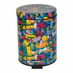 Lixeira DC Comics Super Heroes Colorida em Metal - 5 Litros - Urban - 27,5x20,5 cm